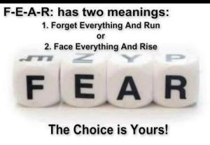Fear and your choice - think different